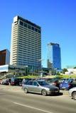 Vista dei grattacieli della città di Vilnius nuova il 6 giugno 2015 Immagine Stock Libera da Diritti