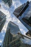 Vista dei grattacieli moderni nella città di Londra Fotografia Stock Libera da Diritti