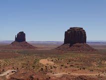 Vista 'dei guanti', valle del monumento, Arizona-Utah, U.S.A. Immagini Stock Libere da Diritti