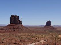 Vista 'dei guanti', valle del monumento, Arizona-Utah, U.S.A. Immagine Stock