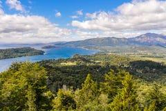 Vista dei laghi, Bariloche, Argentina Immagine Stock
