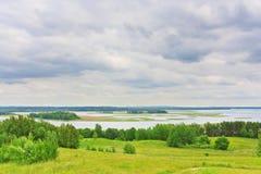 Vista dei laghi Braslav dalla montagna Immagini Stock Libere da Diritti