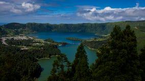 Vista dei laghi gemellati immagini stock libere da diritti