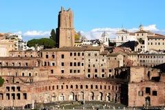 Vista dei mercati di Traiano Fotografie Stock