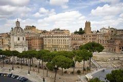 Vista dei mercati trajan a Roma Fotografia Stock