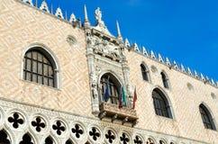 Vista dei palazzi ducali 1309 - 1424 anni, Venezia, Italia immagini stock