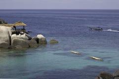Vista dei puntelli dell'isola del Tao del KOH Fotografia Stock
