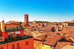 Vista dei tetti rossi a Firenze. Fotografia Stock