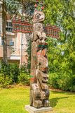 Vista dei totem Duncan - nel Canada fotografie stock libere da diritti