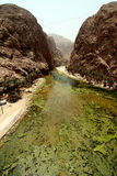 Vista dei wadi Shab Fotografia Stock Libera da Diritti