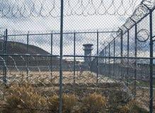Vista delével, Nevada State Prison histórica, Carson City fotografia de stock royalty free