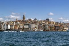 Vista del área de Estambul Beyoglu, Turquía imagen de archivo libre de regalías