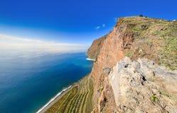 Vista del acantilado de Cabo Girao Imagenes de archivo