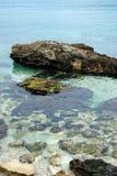 Vista del Adriático inferior a través del agua de mar fotografía de archivo libre de regalías