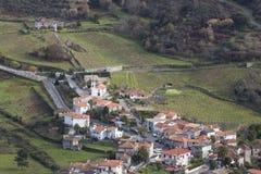 Vista del Aeral da Loivos da Ribeira, Portogallo, Baiao immagini stock libere da diritti