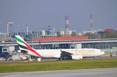 Vista del aeropuerto de Okecie en Varsovia Imagenes de archivo