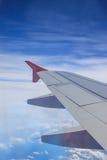 Vista del ala del avión de reacción Fotografía de archivo libre de regalías