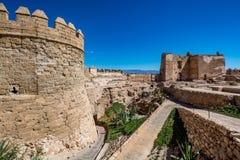 Vista del Alcazaba a Almeria & x28; Almeria Castle & x29; Immagine Stock