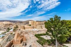 Vista del Alcazaba a Almeria & x28; Almeria Castle & x29; Immagine Stock Libera da Diritti