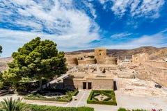 Vista del Alcazaba a Almeria & x28; Almeria Castle & x29; Fotografie Stock Libere da Diritti