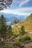 Vista del Alpsee Immagini Stock