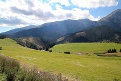 Vista del alto Tatras en Eslovaquia Imagen de archivo