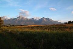 Vista del alto Tatras en Eslovaquia Imagenes de archivo
