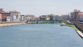 Vista del Arno en Pisa Imagenes de archivo