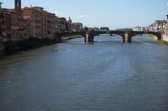 Vista del Arno a Firenze Immagini Stock