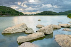 Vista del bacino idrico del HUB EKANG, Uthai Fotografia Stock