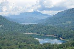 Vista del bacino idrico di Kotmale dello Sri Lanka Immagini Stock Libere da Diritti
