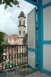 Vista del balcone Fotografie Stock Libere da Diritti
