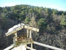 Vista del balcone Fotografia Stock