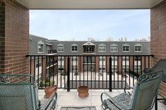 Vista del balcone del cortile Immagine Stock Libera da Diritti