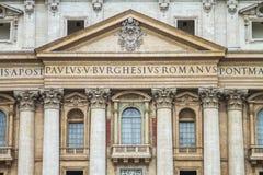 Vista del balcone della conduttura della basilica di St Peter fotografia stock