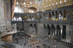 Vista del balcone dentro il museo di Aya Sophia a Costantinopoli, Turchia Fotografia Stock
