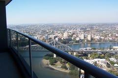 Vista del balcone sopra la città Fotografia Stock Libera da Diritti