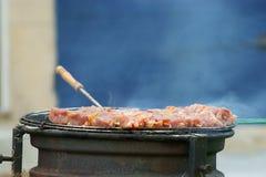 vista del barbecue Immagine Stock