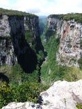 Vista del barranco de Itaimbezinho Fotos de archivo