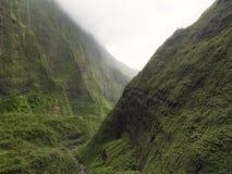 Vista del barranco de Waimea en la costa del Na Pali, isla de Kauai, Hawaii Fotos de archivo libres de regalías