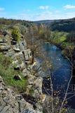 Vista del barranco en otoño Imagen de archivo