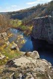 Vista del barranco en otoño Foto de archivo libre de regalías