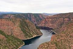 Vista del barranco rojo en la garganta llameante, Utah fotografía de archivo libre de regalías