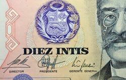 Vista del billete de banco - Perú Fotografía de archivo libre de regalías