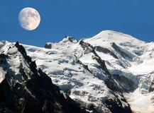 Vista del blanc del mont nelle alpi Fotografie Stock Libere da Diritti