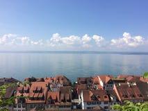 Vista del Bodensee de Meersburg Fotos de archivo libres de regalías