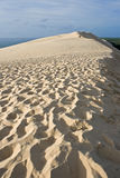Vista del bordo della duna di Pilat Fotografia Stock