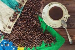 Vista del café brasileño foto de archivo