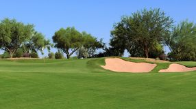 Vista del campo da golf Immagine Stock