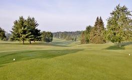 Vista del campo da golf Fotografia Stock